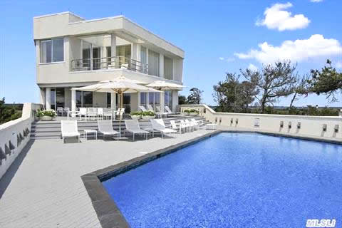 Quogue Oceanfront Contemporary Home Dune Road